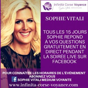 Sophie Vitali répond à vos questions gratuitement pendant le live voyance sur Facebook