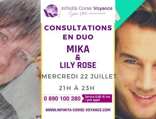 Consultations en duo avec Lily Rose et Mika médium