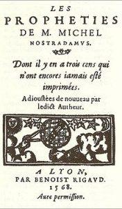 Les Prophéties. Édition de 1568.