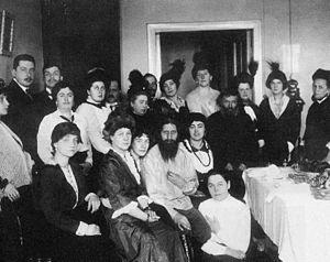 Raspoutine et ses « admiratrices », en 1914