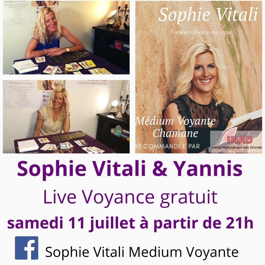 Sophie Vitali médium et voyante répond à vos questions gratuitement pendant ses live voyance sur Facebook.