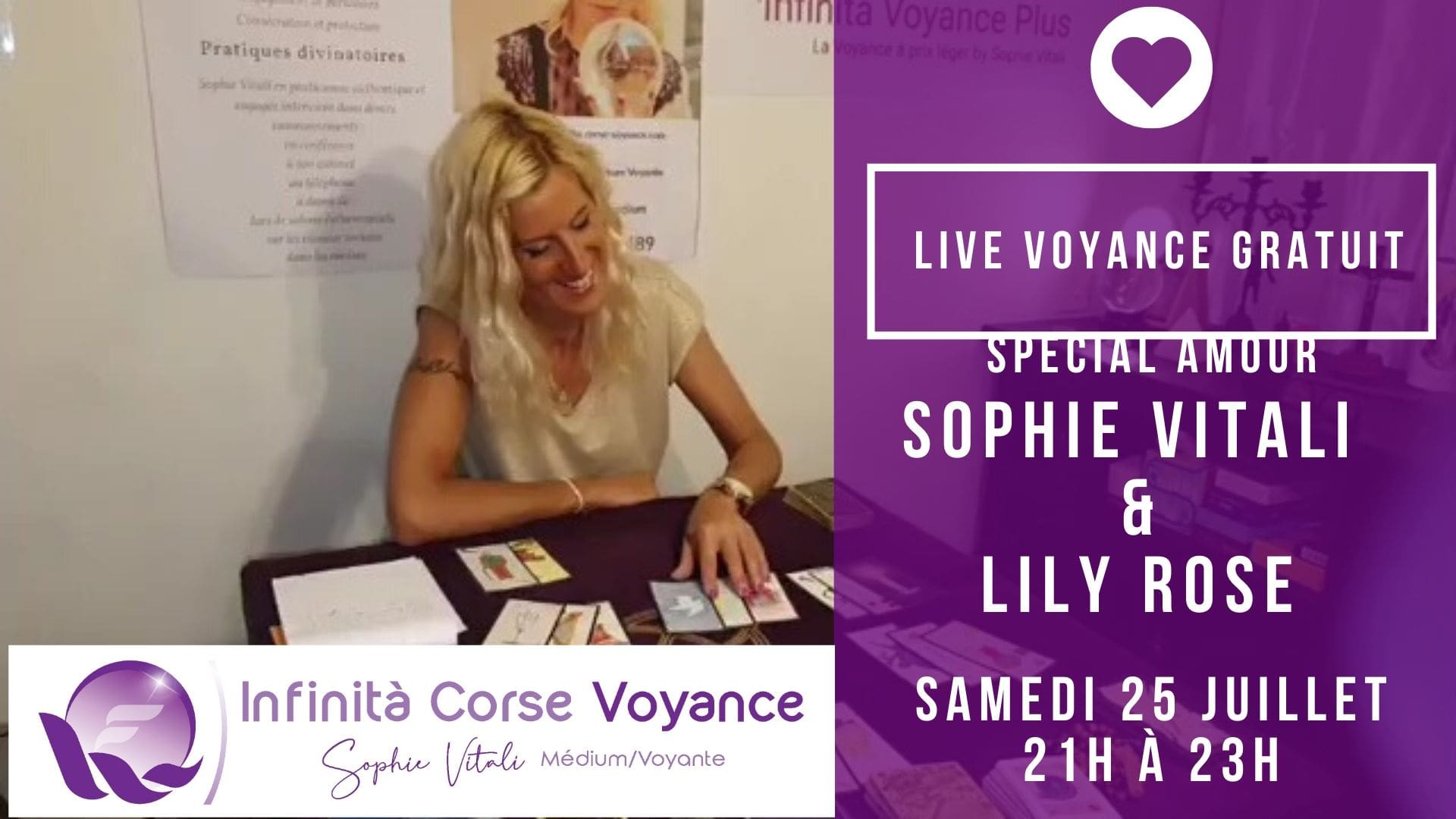Sophie Vitali en live Facebook le samedi 25 juillet sur Facebook