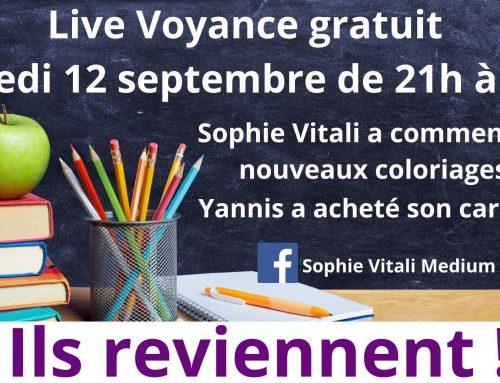 Live voyance Facebook gratuit avec Sophie Vitali et Yannis le 12/09/2020