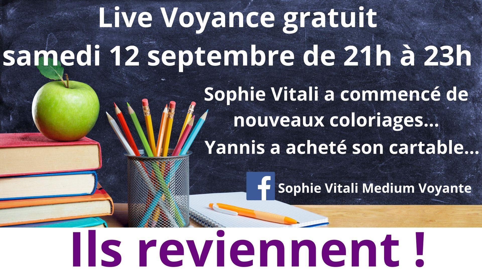 Live voyance gratuit sur Facebook animé par Sophie Vitali et Yannis
