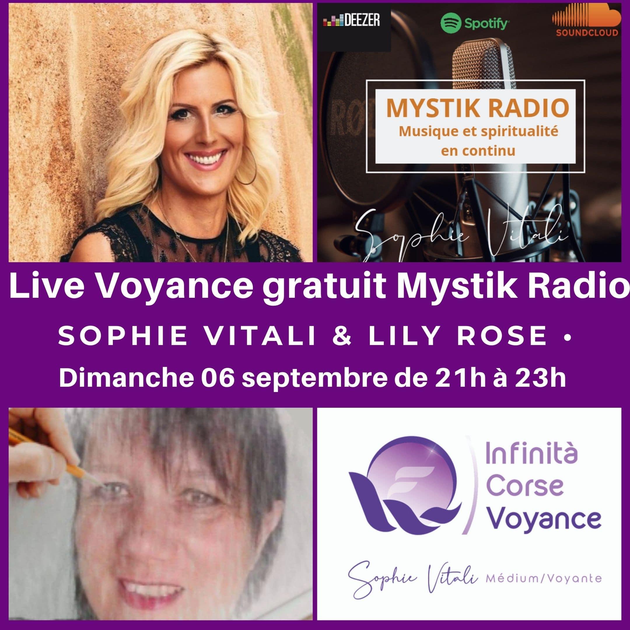 Voyance gratuite sur Mystik Radio avec Sophie Vitali et Lily Rose