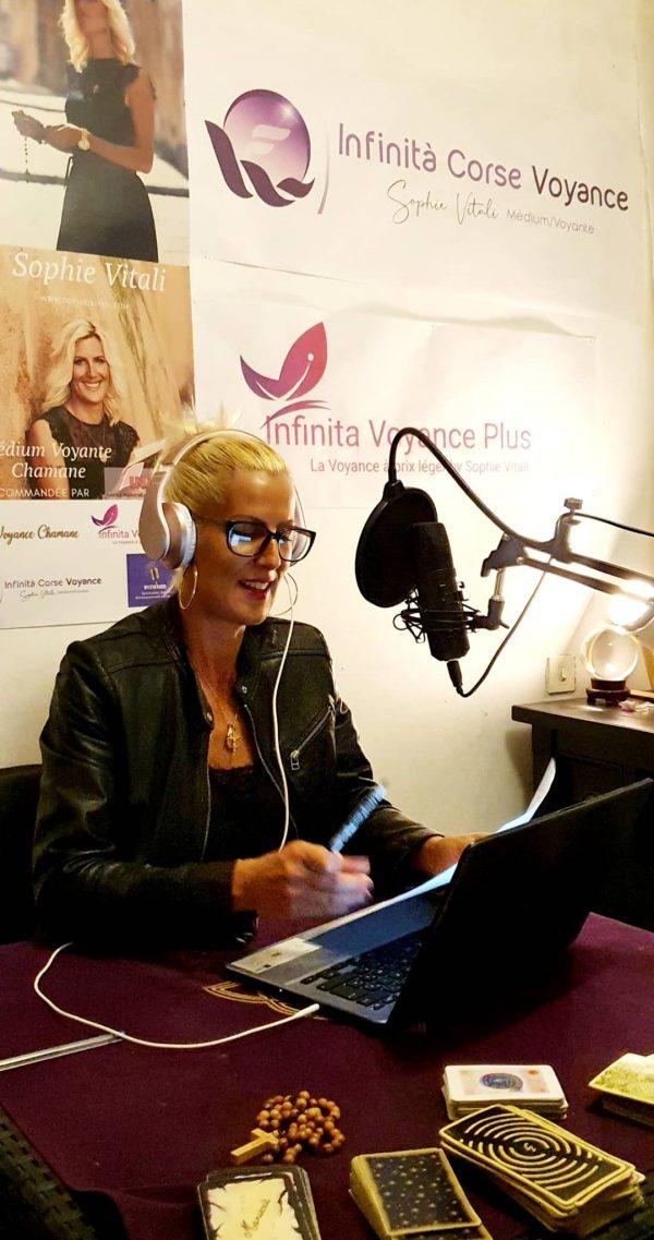 Sophie Vitali animatrice sur Mystik Radio