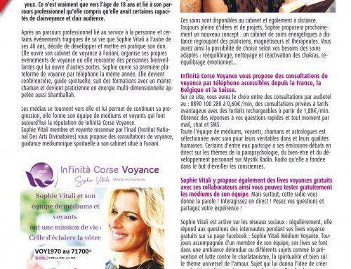 Sophie Vitali dans le magazine: Vous et votre avenir