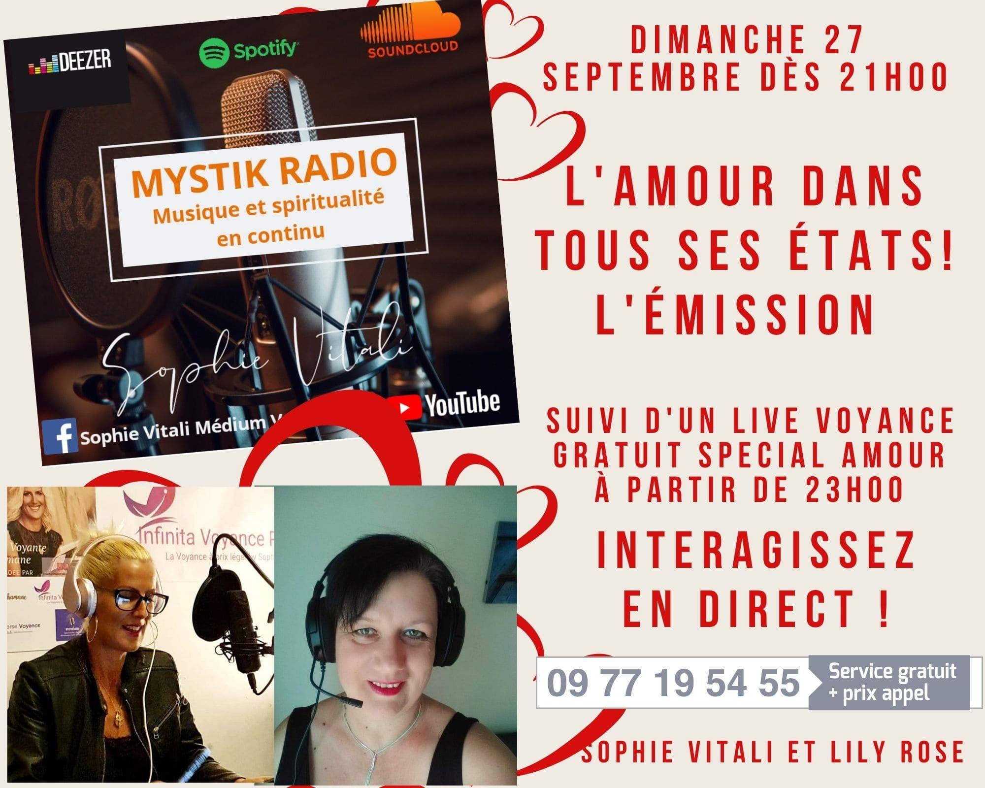 L'amour dans tous ses états ! L'émission en direct sur Mystik Radio