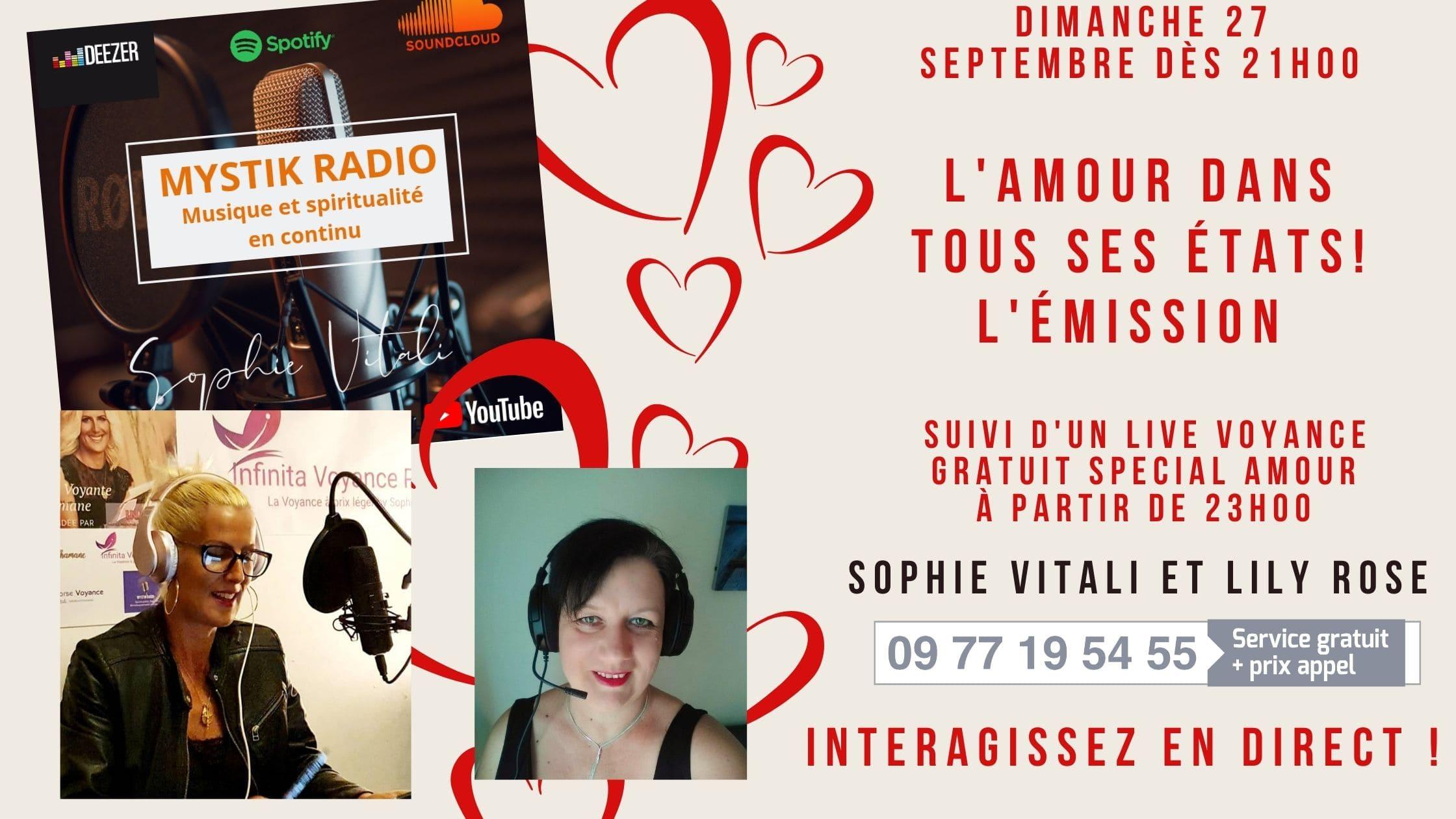 L'amour dans tous ses états ! L'émission. / Mystik radio / Sophie Vitali