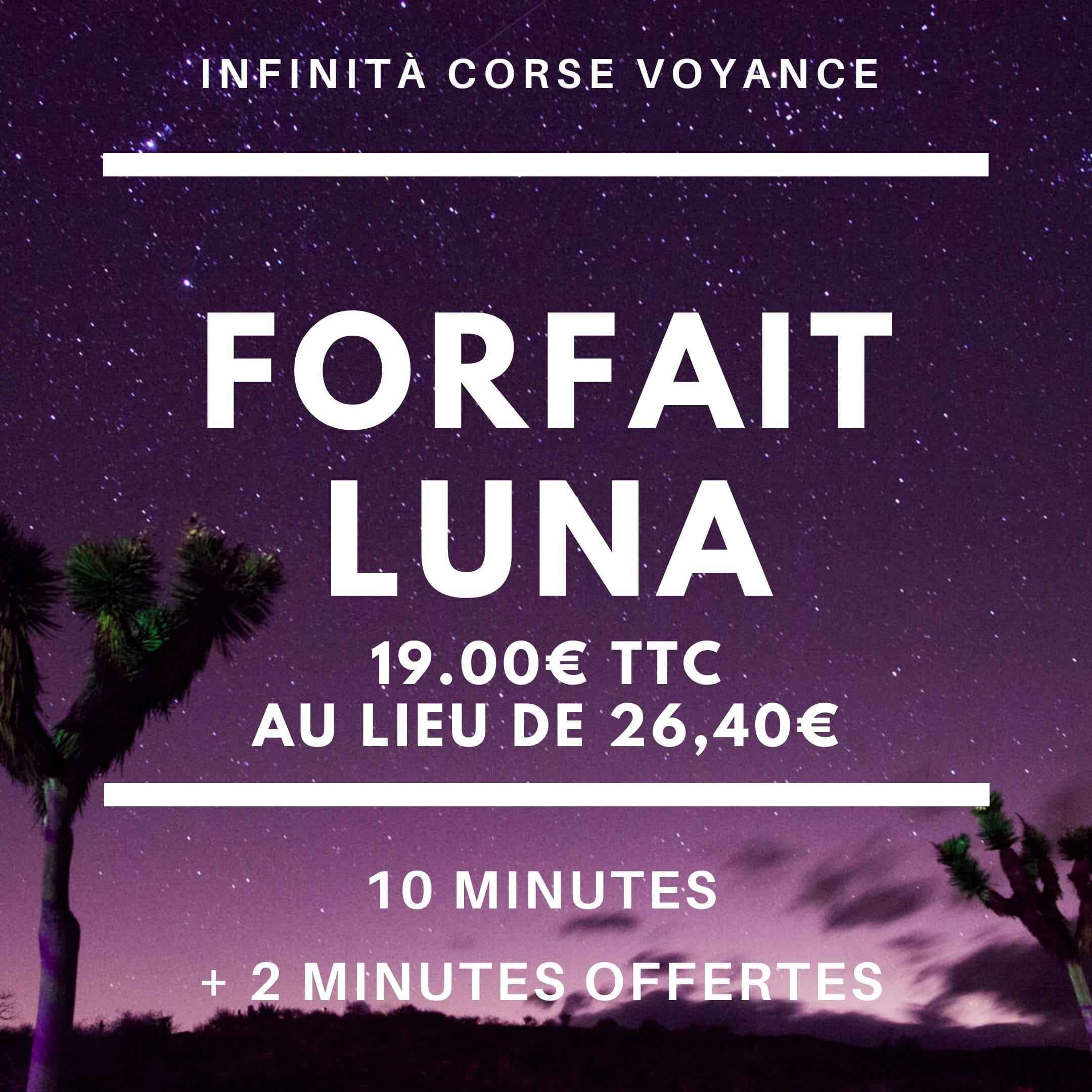 Forfait Luna / Infinità Corse Voyance