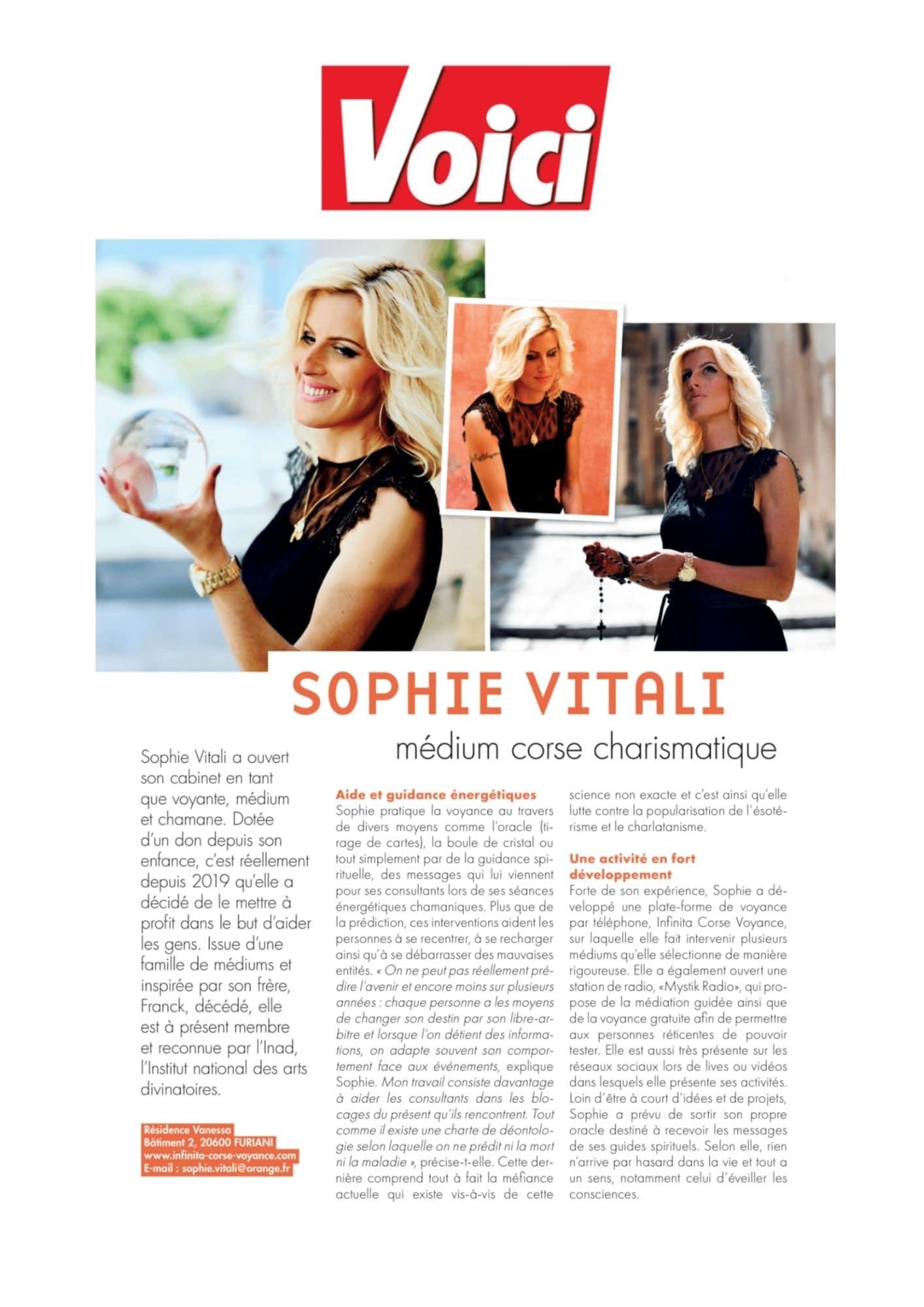 Voici magazine Sophie Vitali
