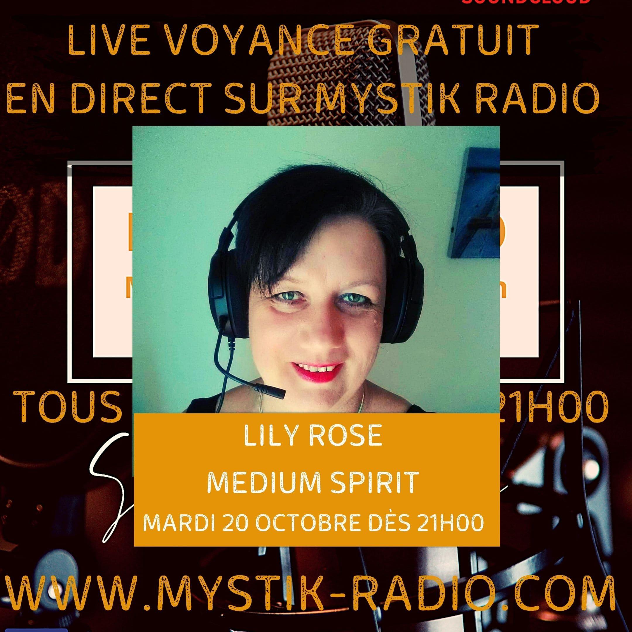 Live voyance gratuit avec Lily Rose de Onfintà Corse Voyance en direct sur Mystik Radio