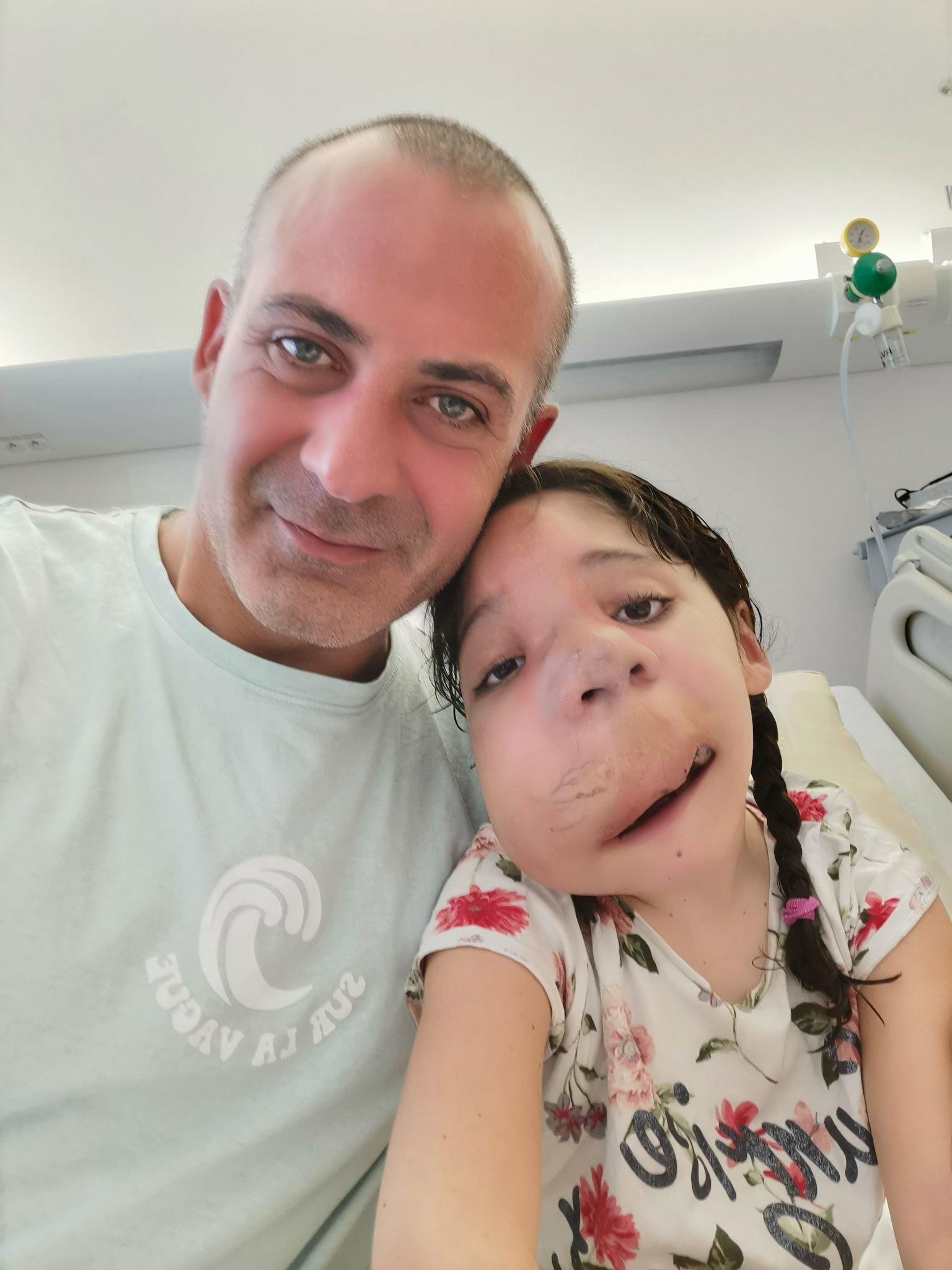 Christophe Bargoni et sa fille Emna / Le blog de Sophie