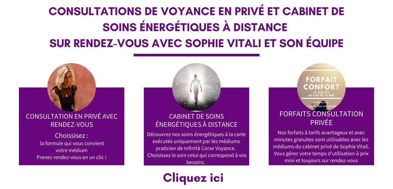 Consultation privée sur rendez-vous / Infinità Corse Voyance