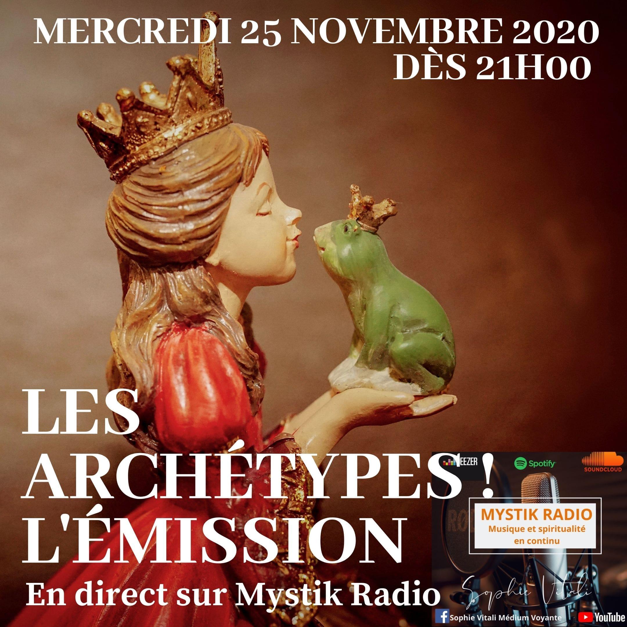 Les archétypes ! L'émission ! en direct sur Mystik Radio / Infinità Corse Voyance