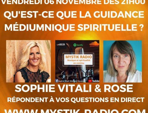Qu'est-ce que la guidance médiumnique spirituelle ? L'émission ! sur Mystik Radio 06/11/2020