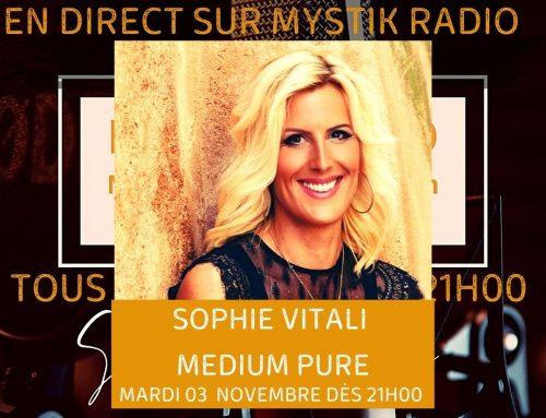 Sophie Vitali en live voyance gratuit sur Mystik Radio 03/11/2020