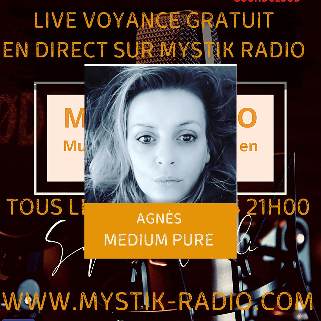 Live voyance gratuit avec Agnès medium pure