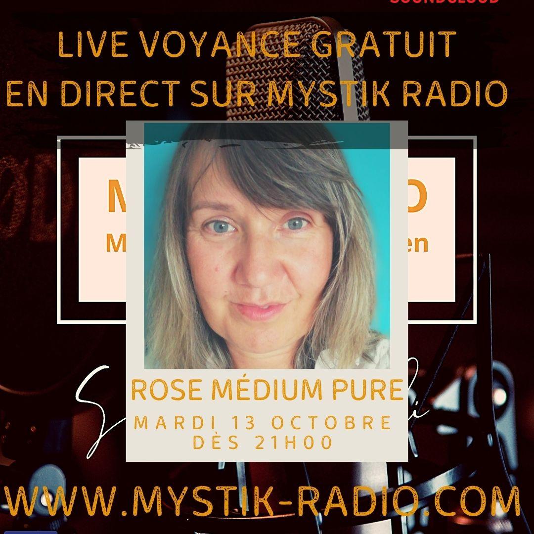 Live voyance gratuit avec Rose médium pure sur Mystik Radio / Infinità Corse Voyance