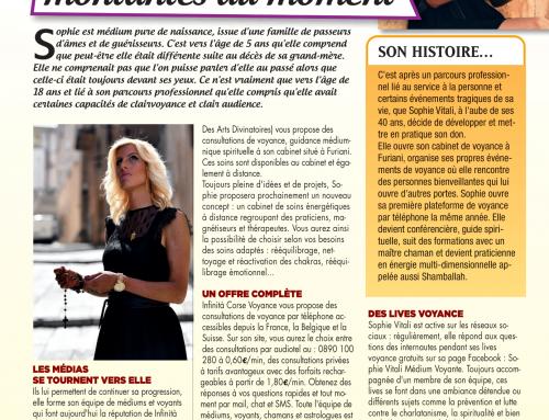 Focus sur Sophie Vitali  magazine Vous et votre avenir 01/11/2020