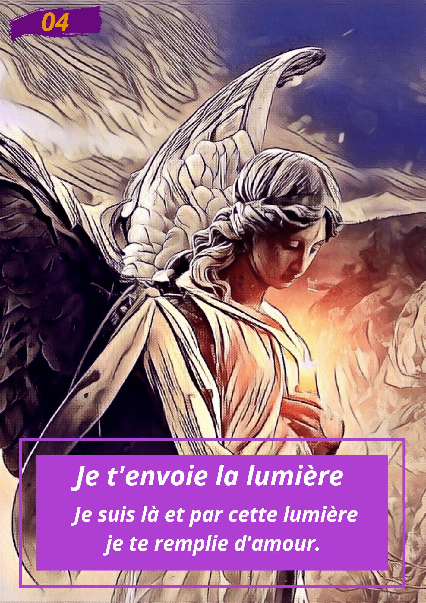 Oracle Le messager spirituel : Carte N°4 : je t'envoie la lumière