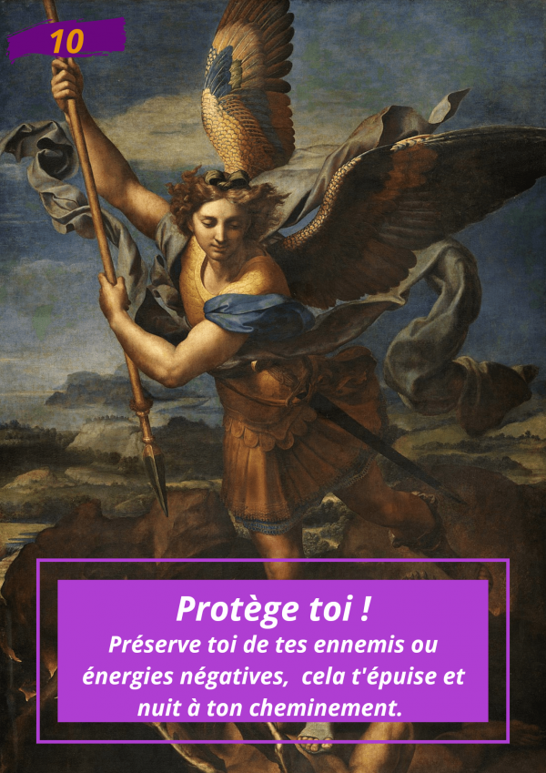 Oracle Le messager spirituel : Carte N°10 : Protège toi