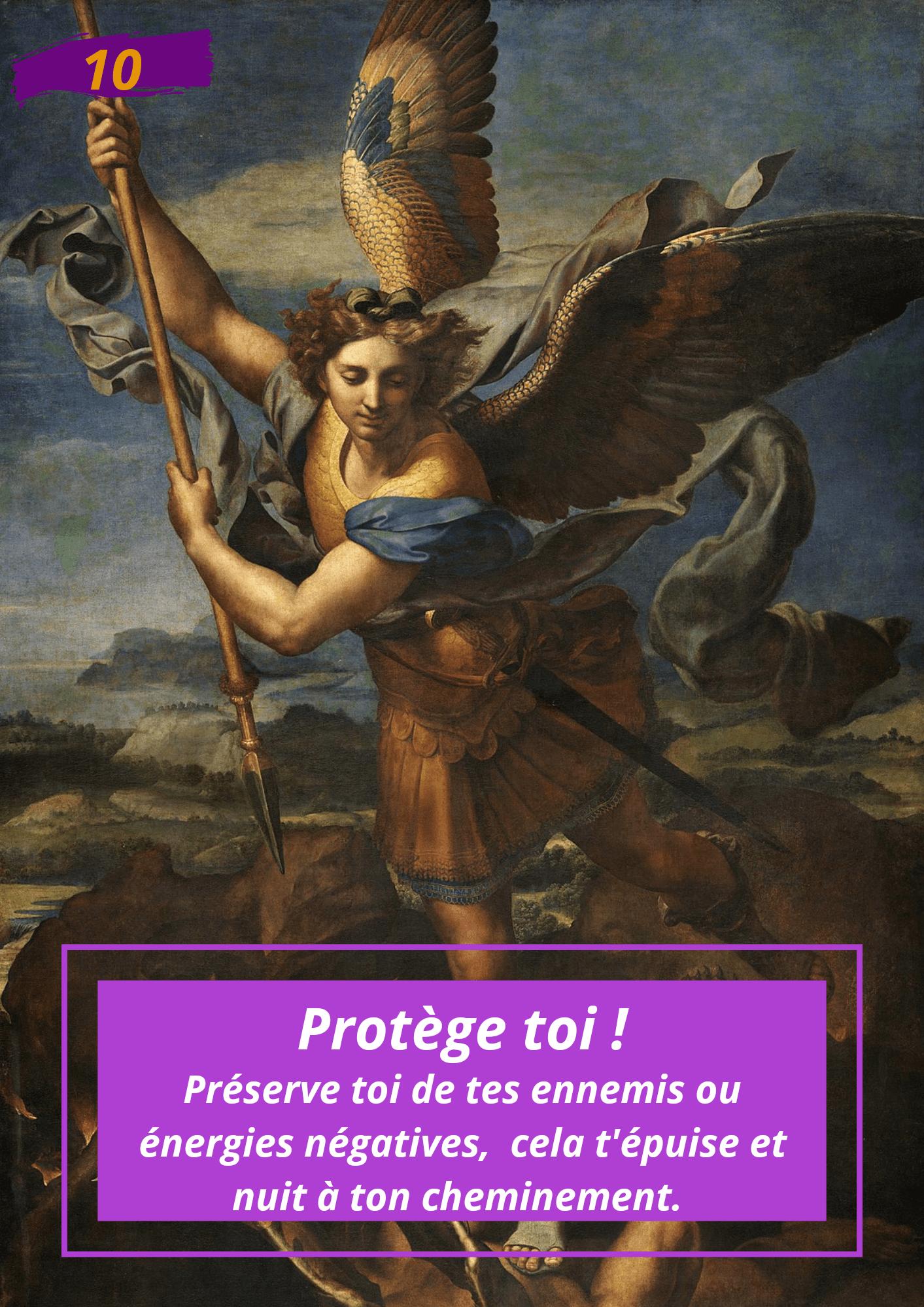Oracle Le messager spirituel : Carte N°10 : Protège toi