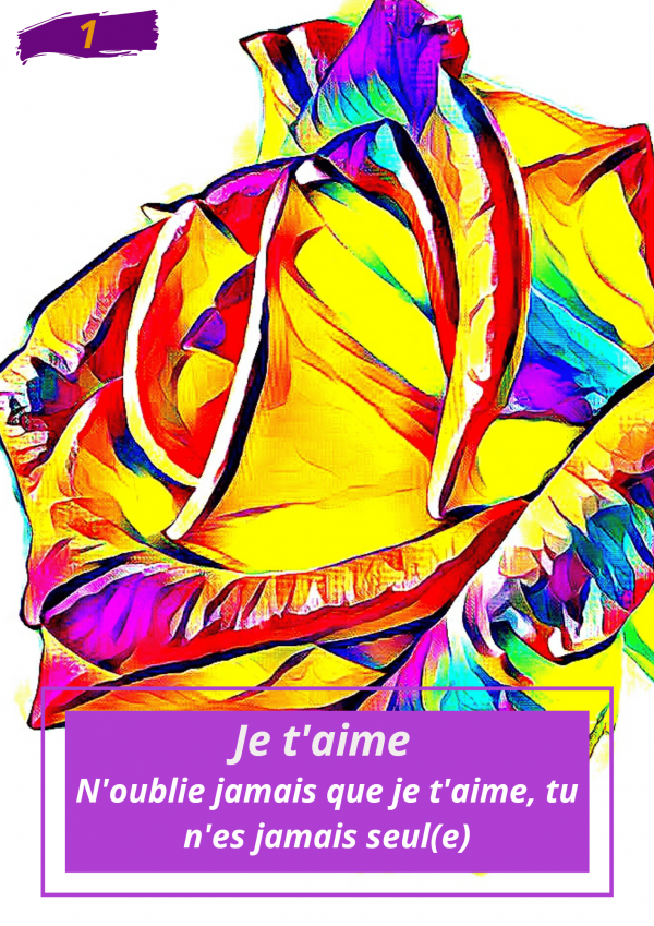 Oracle Le messager spirituel : Carte N°1 : Je t'aime