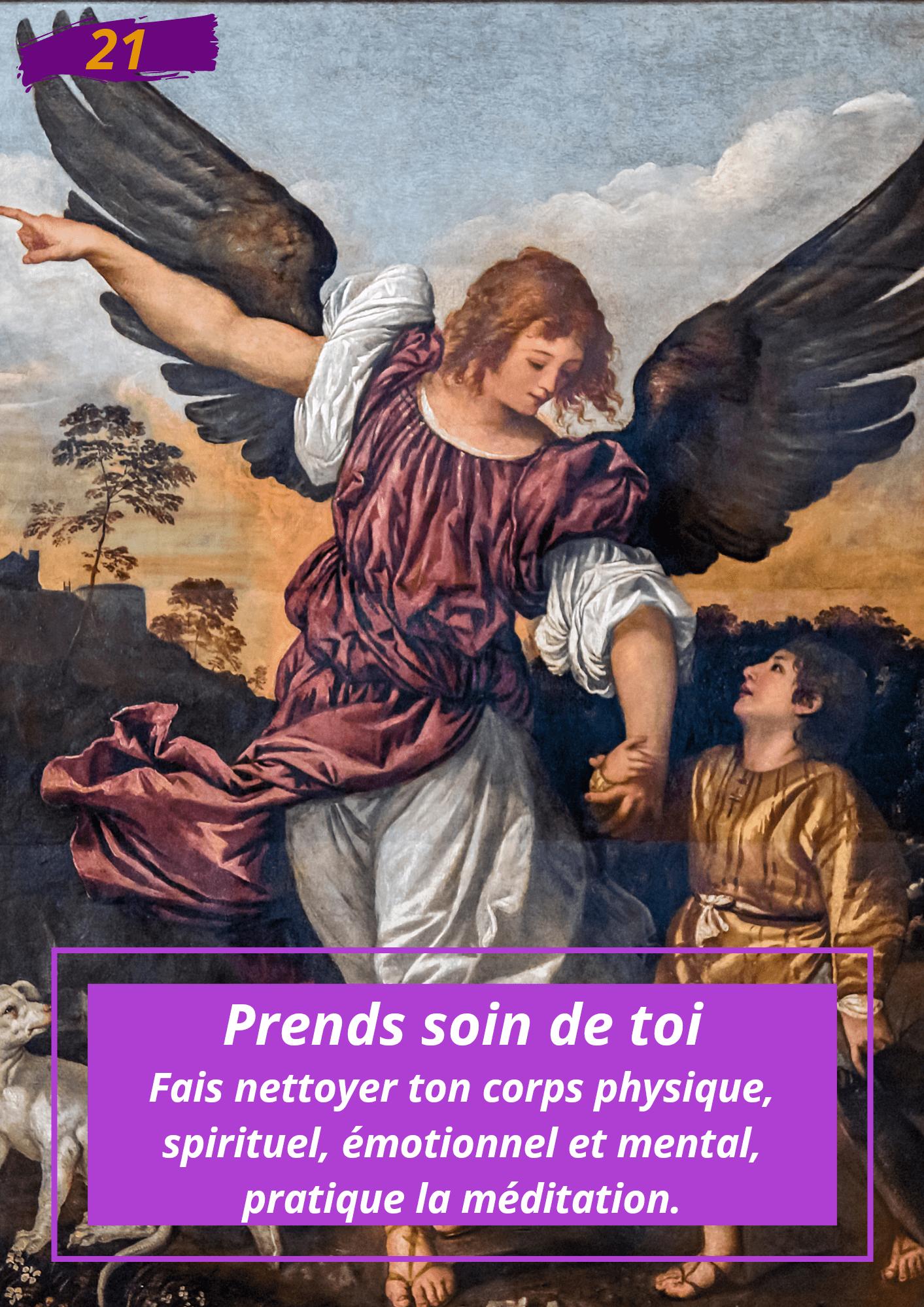 Oracle Le messager spirituel : Carte N°21: Prend soin de toi