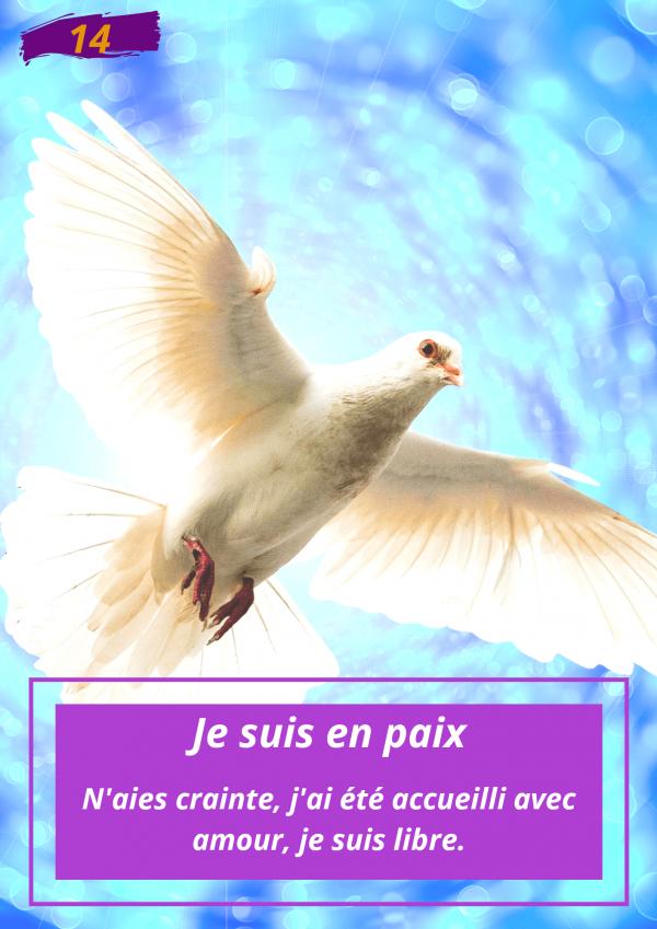 Oracle Le messager spirituel : Carte N°14 : Je suis en paix