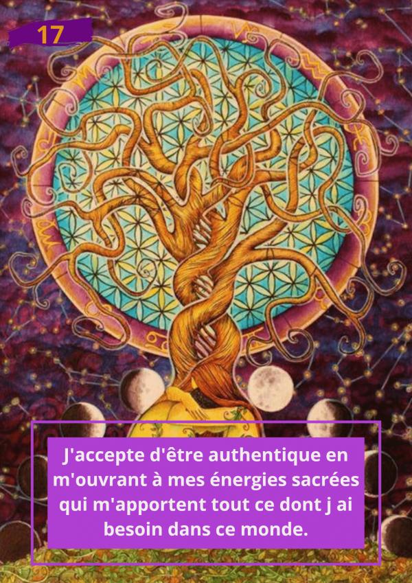Oracle Le messager spirituel : Carte N°17 : J'accepte d'être authentique