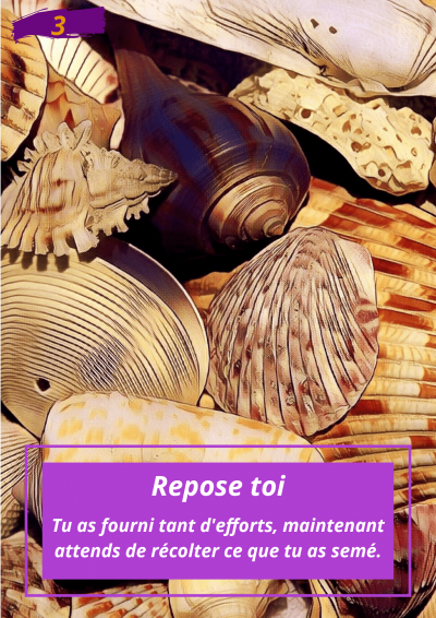 Oracle Le messager spirituel : Carte N°3 : Repose toi