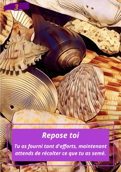 Oracle Le messager spirituel : Carte N°3 : Repose toi