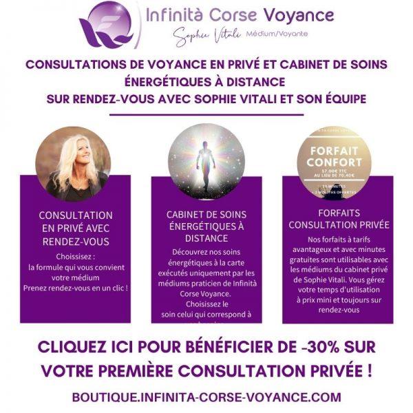 Forfaits consultations privées : Infinità Corse Voyance