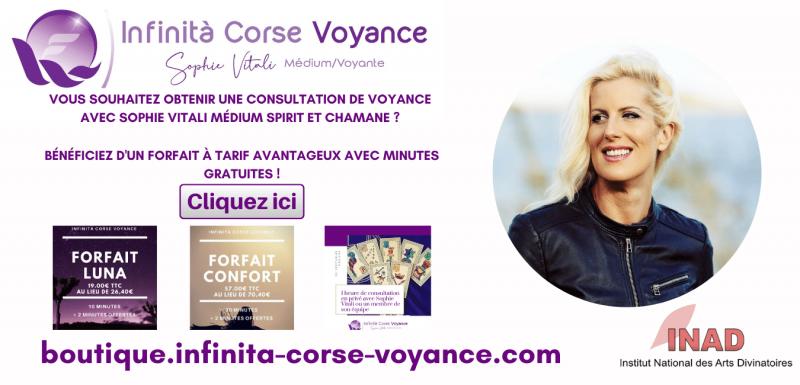 Sophie Vitali médium spirit et chamane en consultation privée sur Infinità Corse Voyance
