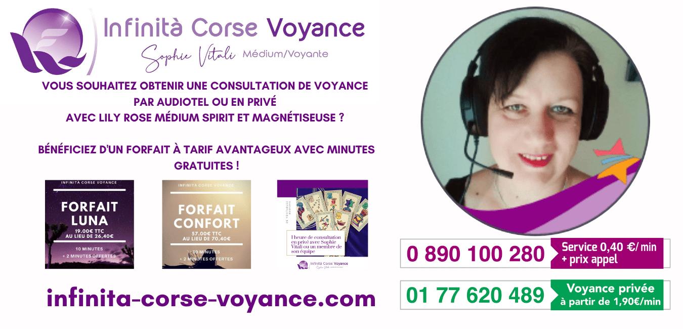 Lily Rose médium spirit et magnétiseuse chez Infinità Corse Voyance
