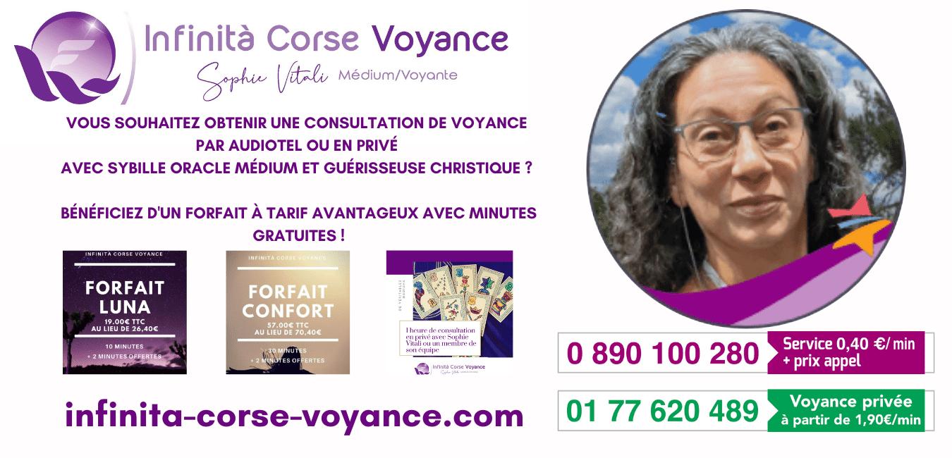 Sybille oracle et guerisseuse christique chez Infinità Corse Voyance