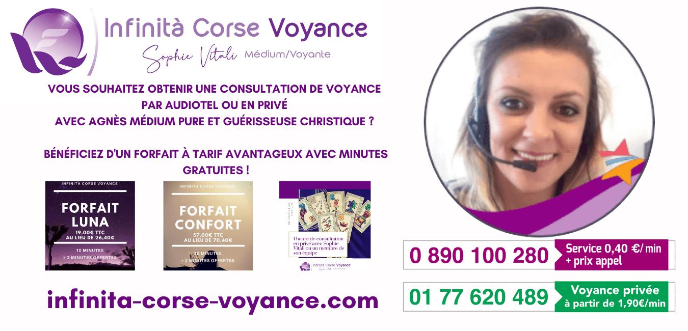 Agnès médium pure et guérisseuse christique chez Infinità Corse Voyance