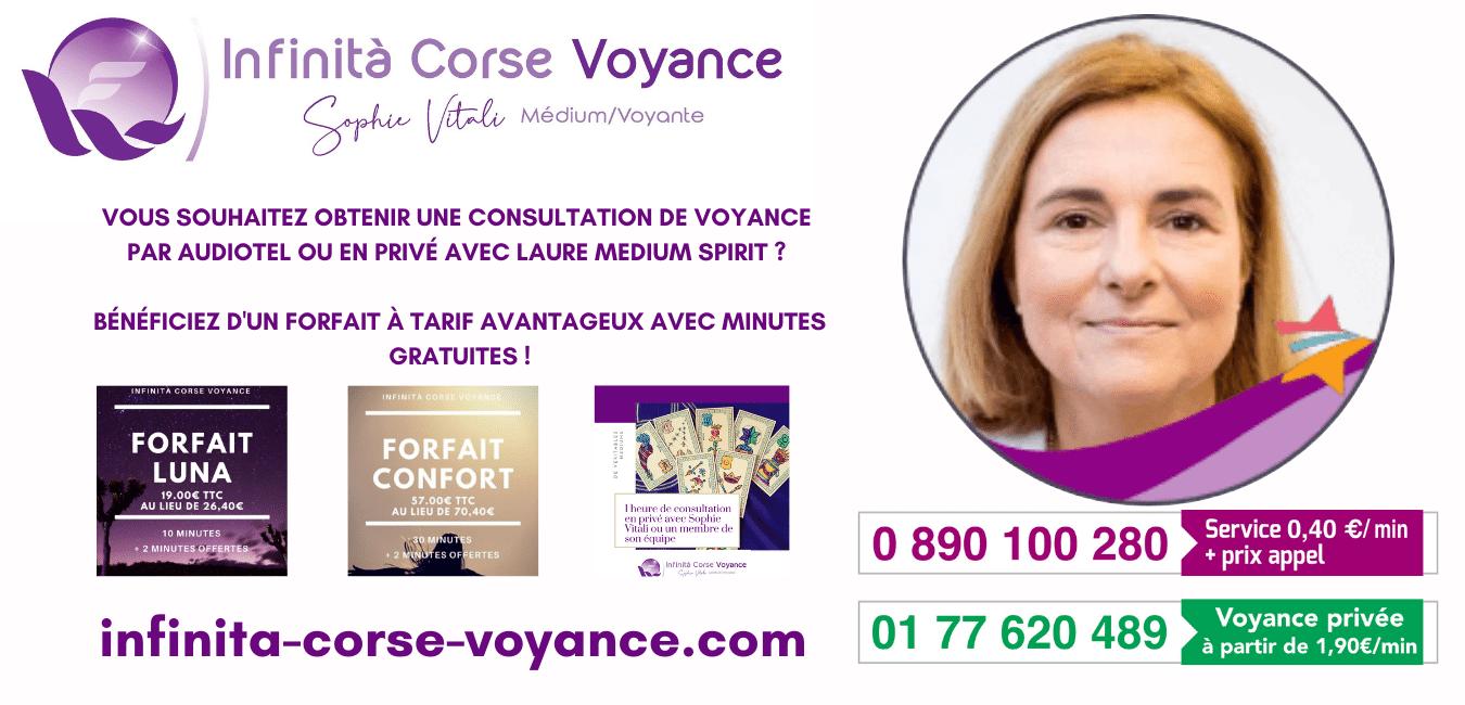 Laure médium spirit chez Infinità Corse Voyance