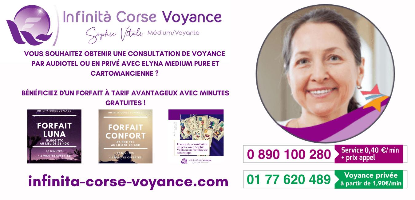Elyna médium et cartomancienne chez Infinità Corse Voyance