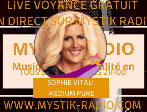 Sophie Vitali en live voyance gratuit en direct sur Mystik Radio 01/12/2020