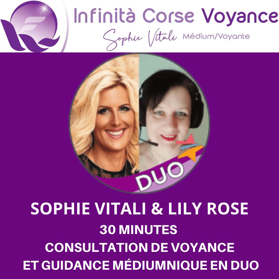 Consultation privée en duo sur rendez-vous avec Sophie Vitali et Lily Rose / Infinità Corse Voyance