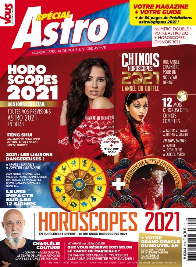 Sophie Vitali et l'astrologie chinoise dans le magazine Vous et votre avenir janvier 2021