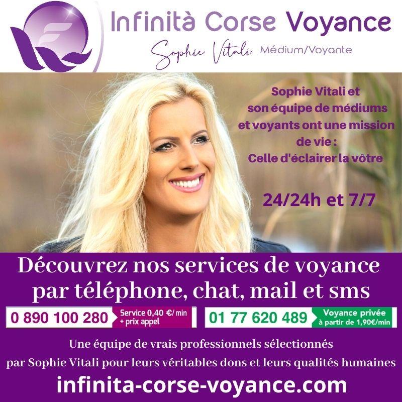 Sophie Vitali et ses voyants à seulement 0.40 € / min / Infinità Corse Voyance