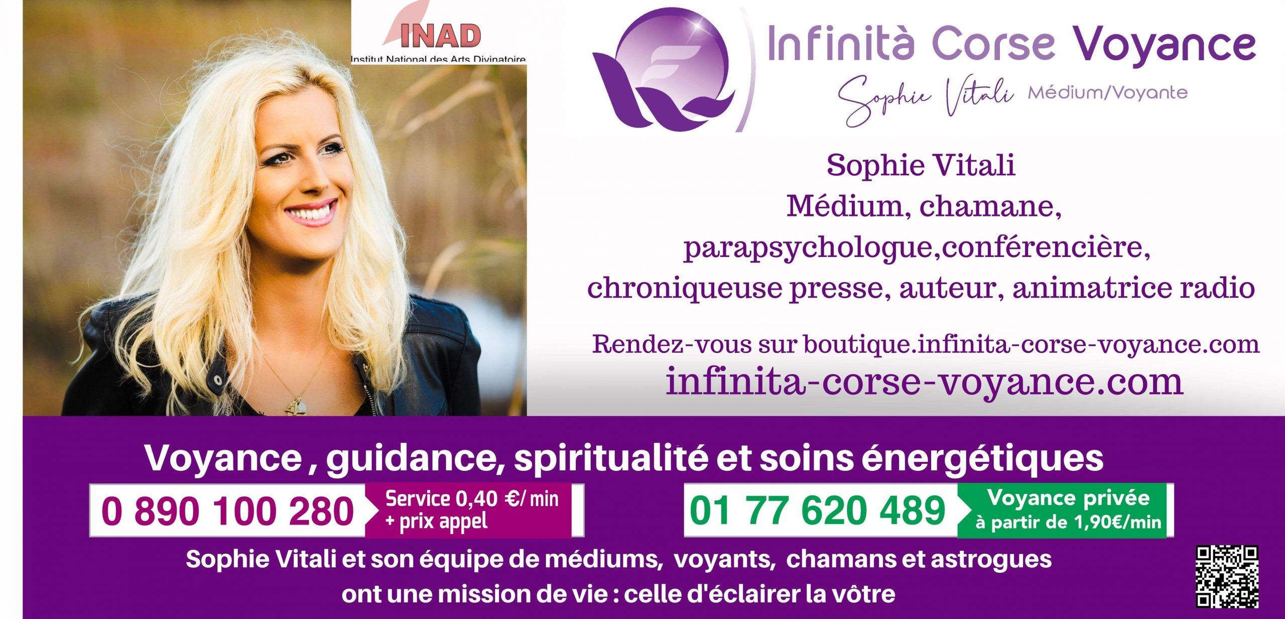 Sophie Vitali médium voyante sur rendez-vous / Infinità Corse Voyance
