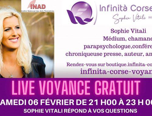 sophie Vitali en live voyance gratuite sur Facebook 06.02.2021