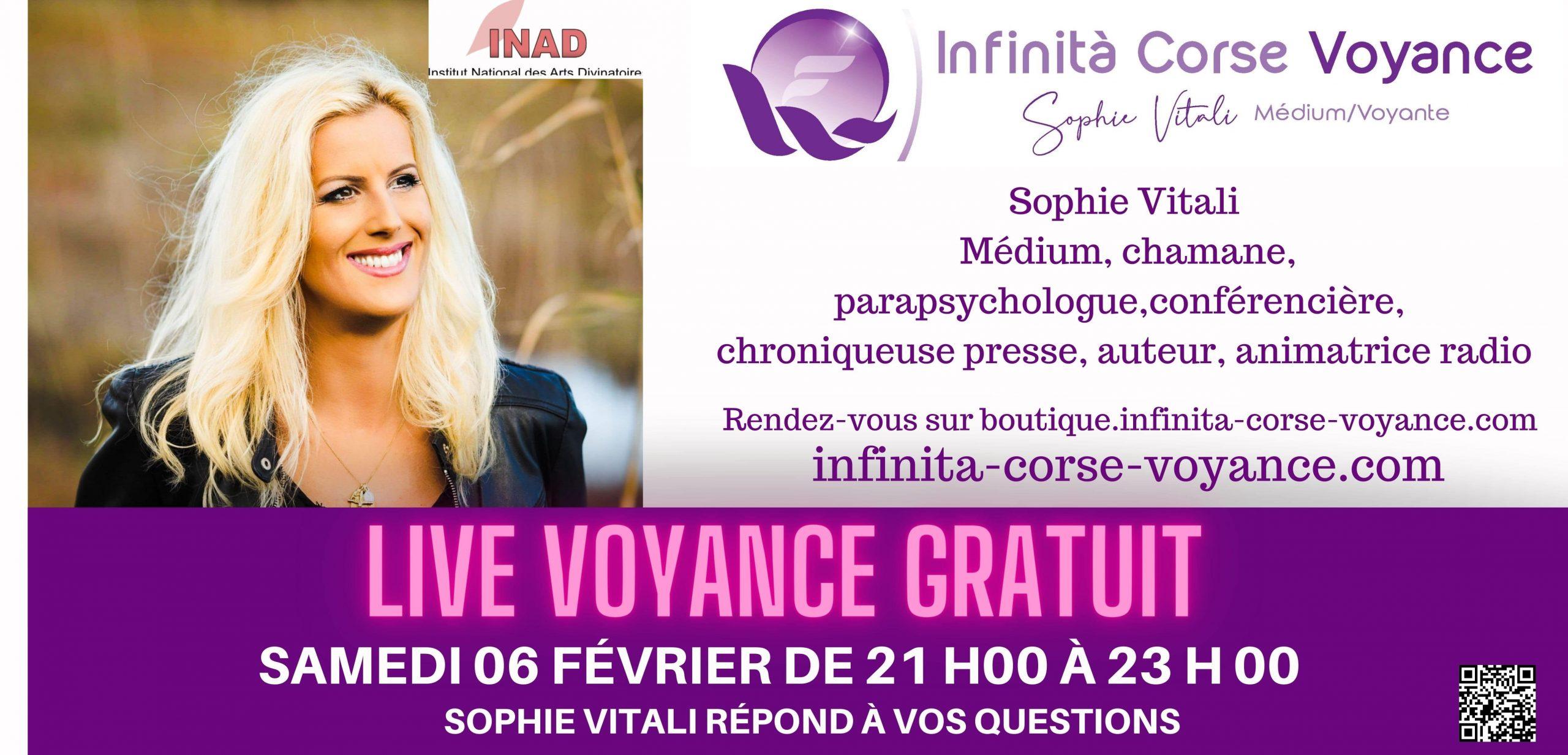 Sophie Vitali médium et voyante corse en live voyance gratuit sur Facebook le 06.02.2021