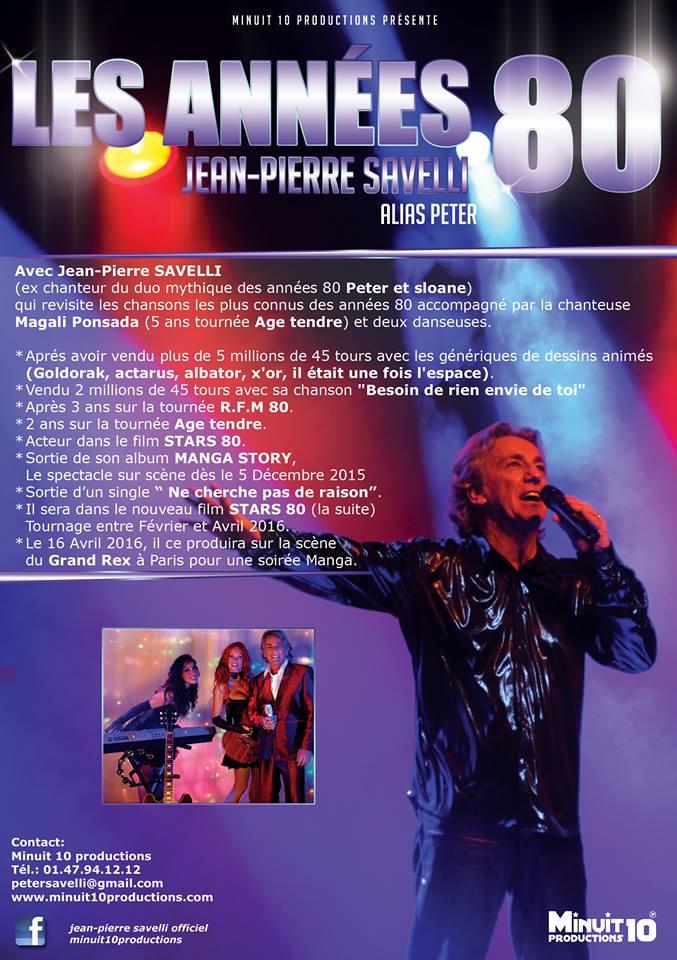 Jean-Pierre Savelli interprète du duo mythique Peter et Sloane est l'invité de Sophie Vitali sur Mystik Radio