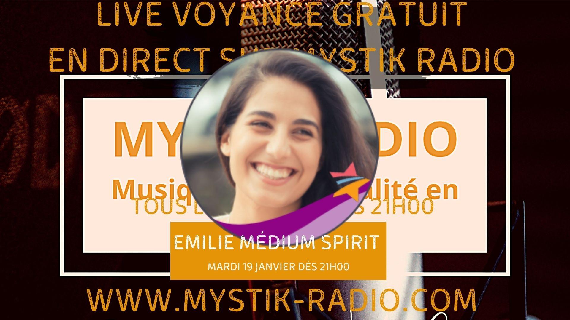 Live voyance gratuit avec Emilie médium spirit et cartomancienne en direct sur Mystik Radio / Infinità Corse Voyance