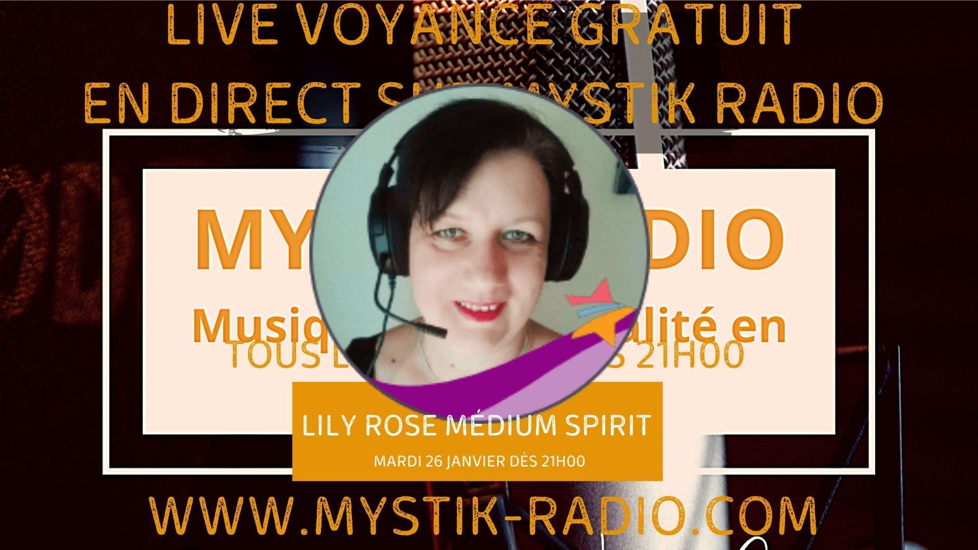 Lily Rose médium spirit et magnétiseuse en live voyance gratuite sur Mystik Radio / Infinità Corse Voyance